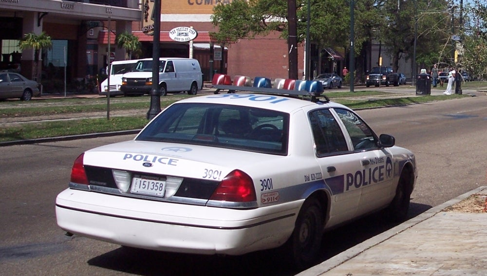 Coche de policía en Nueva Orleans