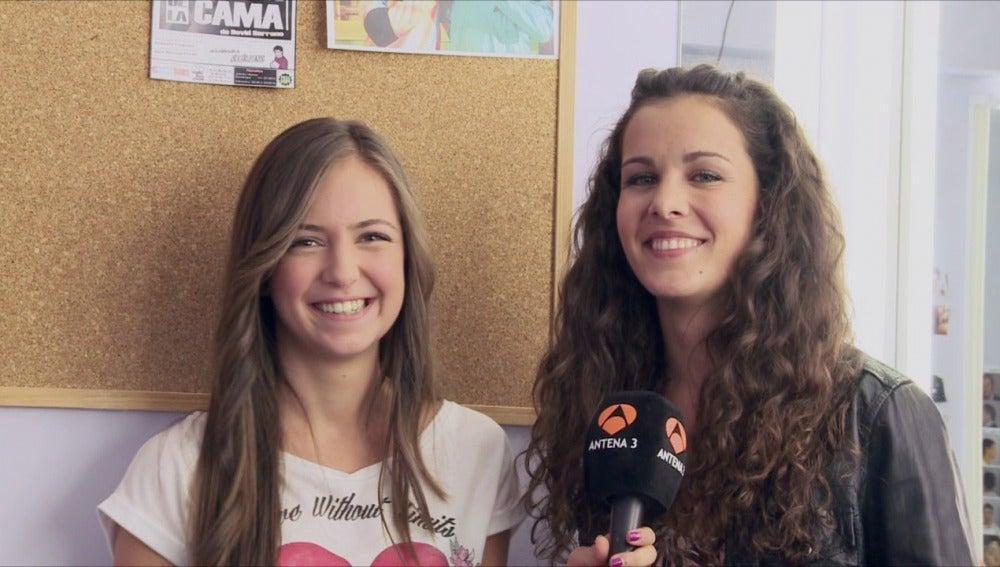 Ana Mena y Sandra Blázquez en Vive Cantando