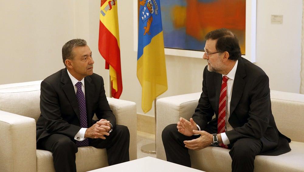Paulino Rivero y Mariano Rajoy