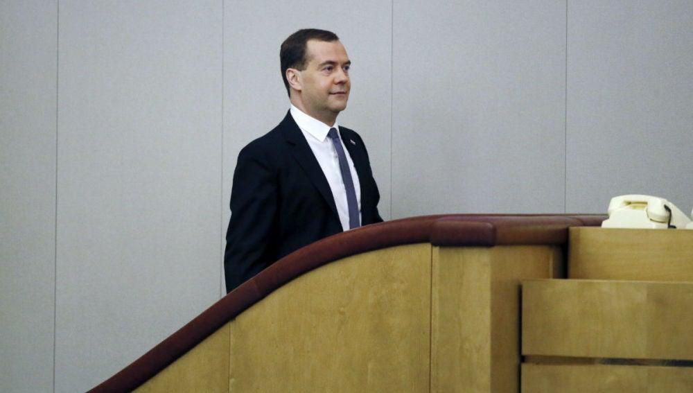 Primer ministro ruso, Dimitri Medvédev.