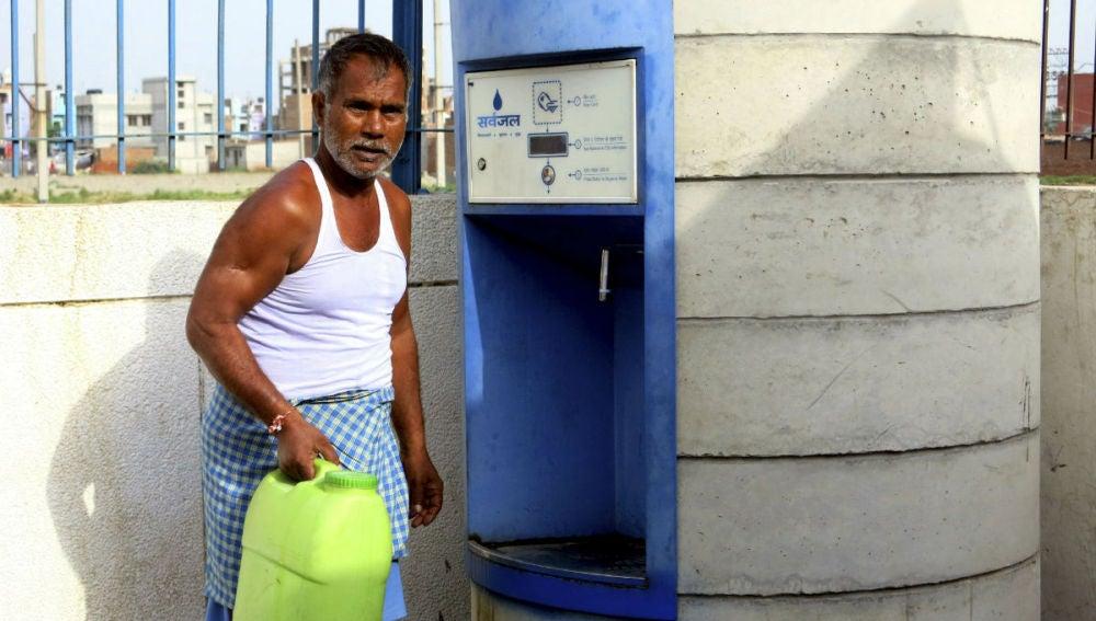 Imagen de uno de los cajeros de agua
