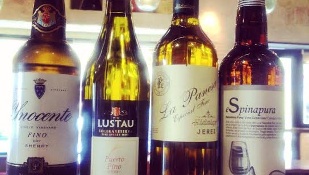 Los vinos de Jerez reinan en La Pepona.