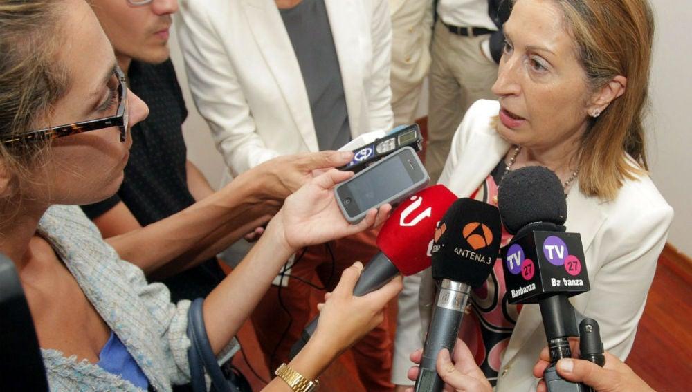 Ana Pastor anuncia que las familias de las víctimas del avión de Swiftair puede iniciar acciones