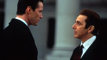 Keanu Reeves y Al Pacino en la versión cinematográfica de 'Pactar con el diablo'