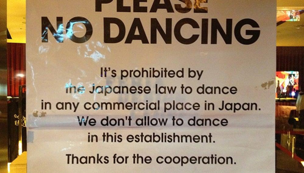 Prohibido bailar en Japón