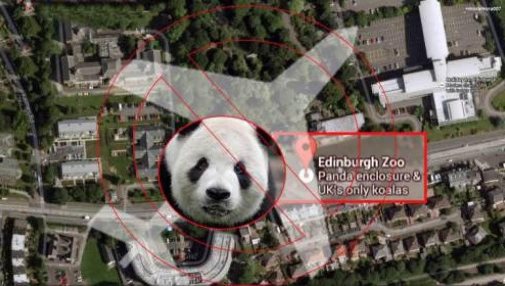 Ubicación del zoo de Edimburgo