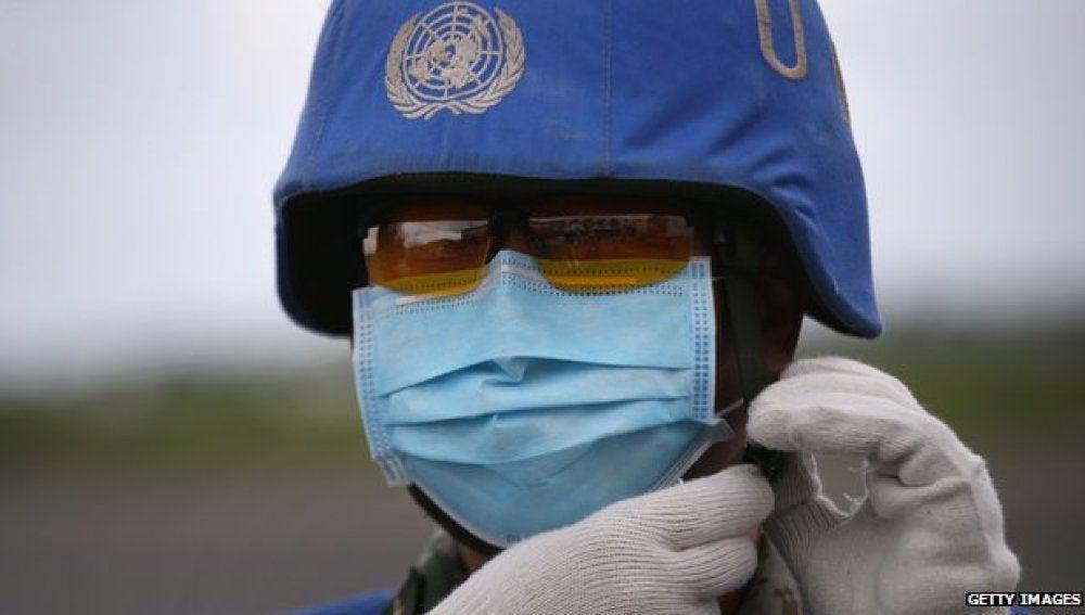 Soldado de la ONU en Liberia