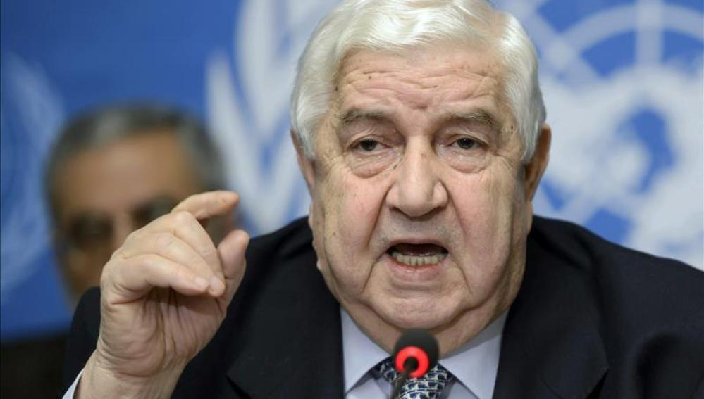 El ministro sirio de Asuntos Exteriores, Walid al Mualem