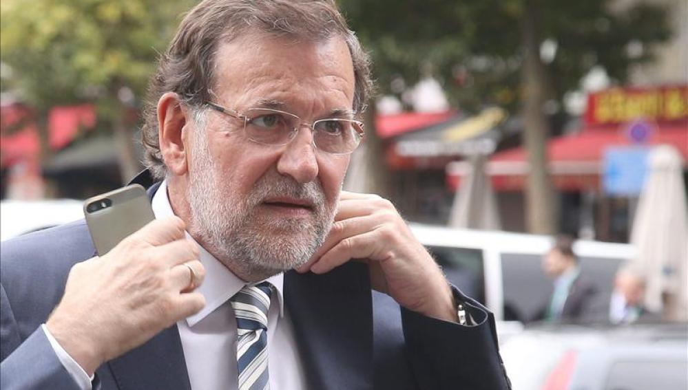 Rajoy, a la llegada al Eurogrupo de agosto
