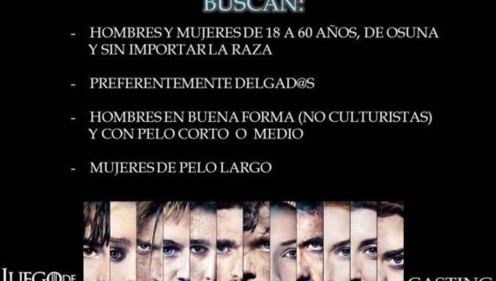 Juego de Tronos': Requisitos para participar en el casting de Sevilla