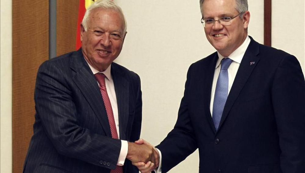 José Manuel García-Margallo y Scott Morrison