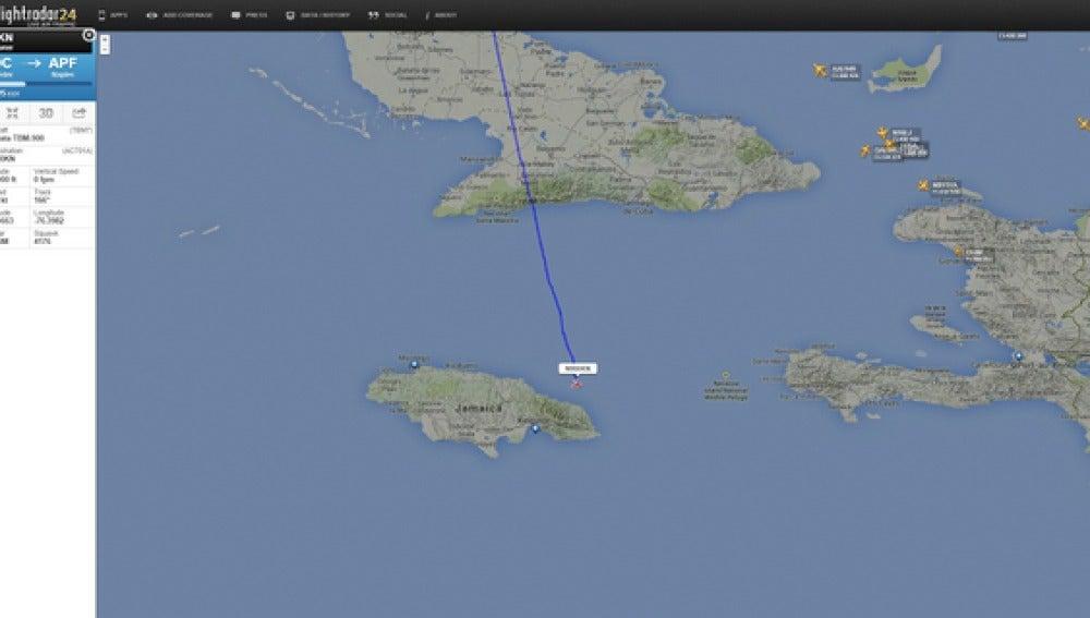 La avioneta salió desde Nueva York y debía haber aterrizado en Florida