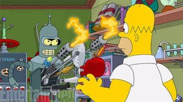 Primera imagen del crossover entre 'Futurama' y 'Los Simpson'