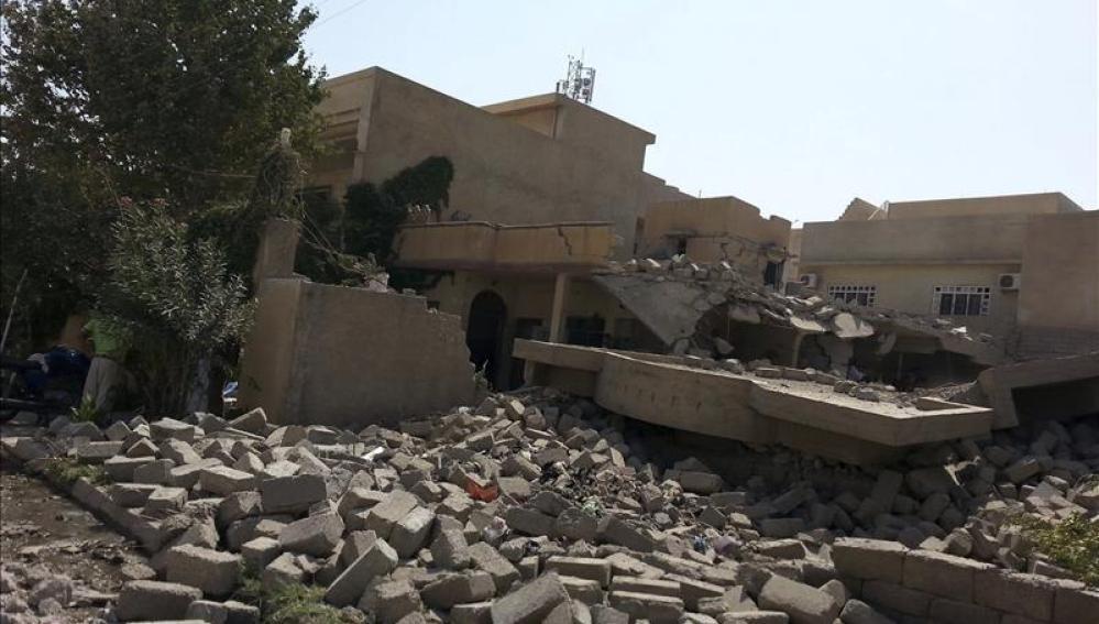 Casa destruida en Irak