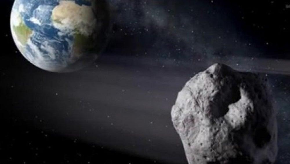 Recreación del paso del 'asteroide 2014 RC'