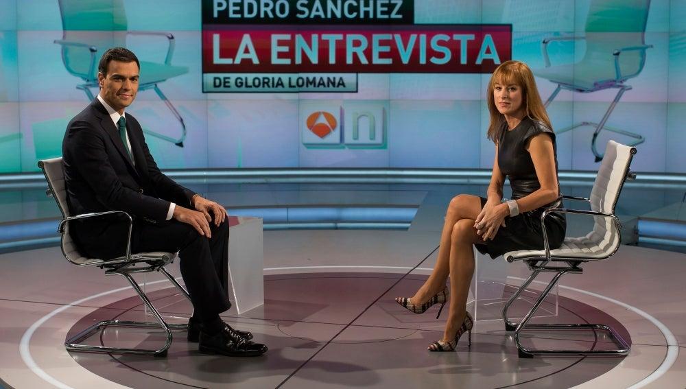 Entrevista de Gloria Lomana a Pedro Sánchez