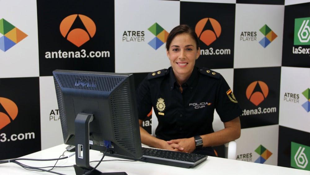 Silvia Barrera durante el encuentro digital