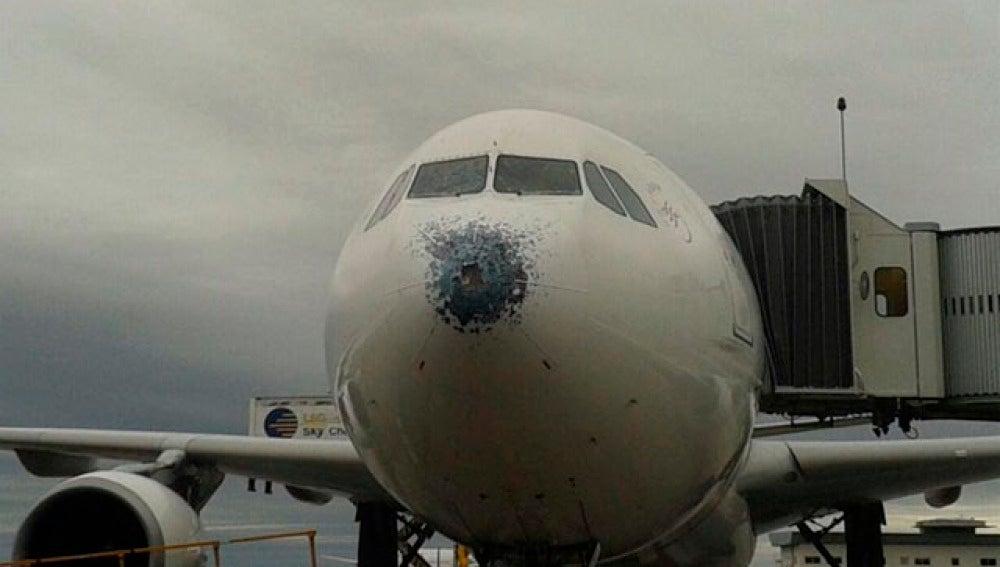 Avión aterrizado en Buenos Aires con daños