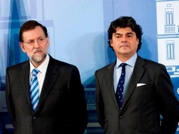 Mariano Rajoy junto a Jorge Moragas