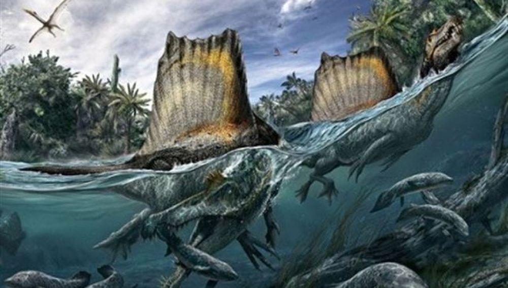 Recreación del Spinosaurus aegyptiacus