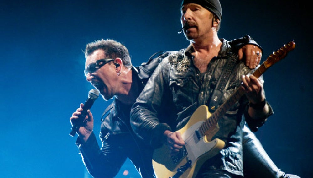 Bono y The Edge del grupo U2