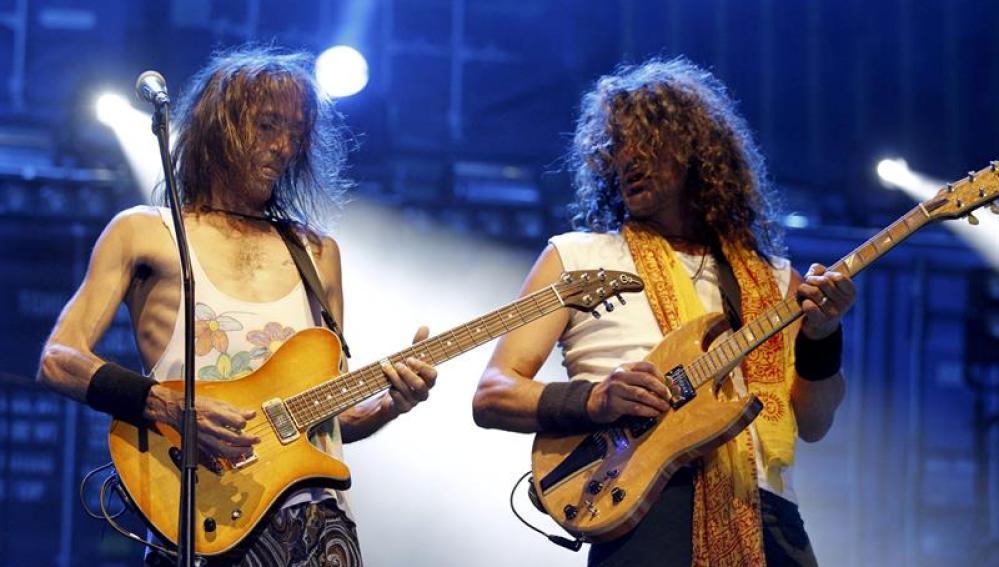 Extremoduro durante su concierto en Las Ventas