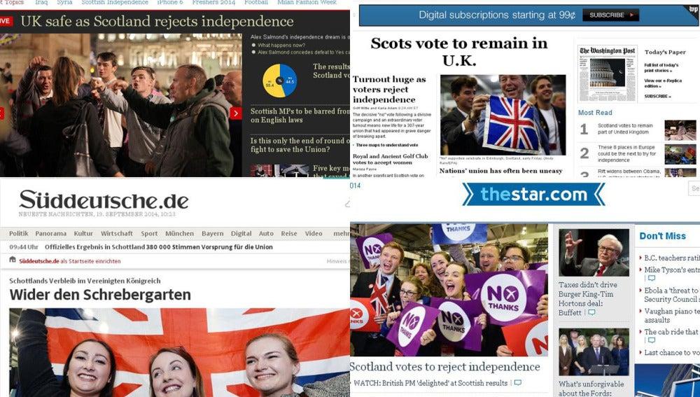 'The Telegraph', de Reino unido, 'The Washington Post', de EEUU, 'Süddeutsche' de holan y 'The Star', de Canadá