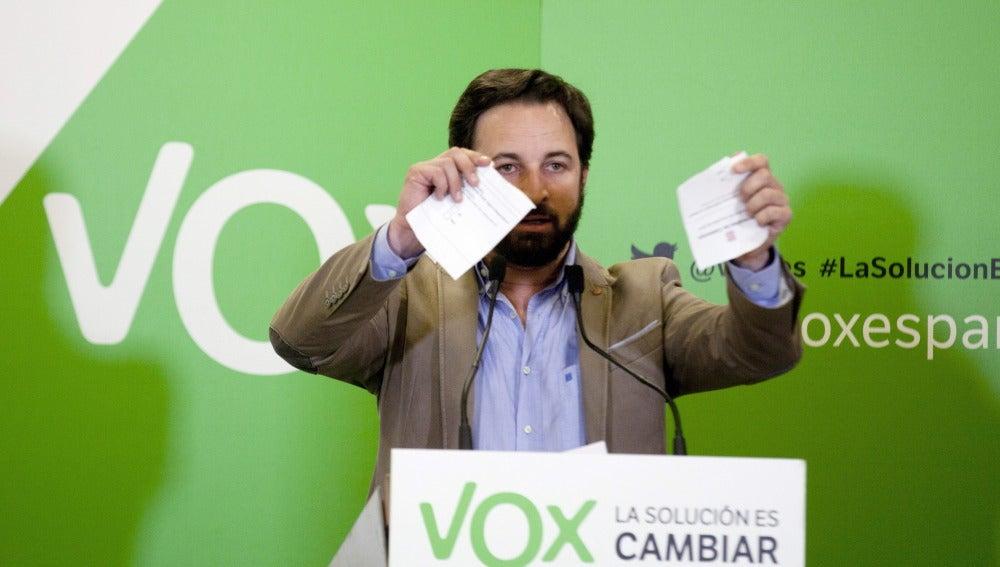 Santiago Abascal, nuevo presidente de Vox