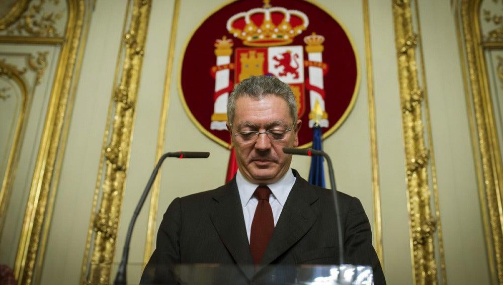 Alberto Ruiz Gallardón comparece ante los medios para presentar su dimisión