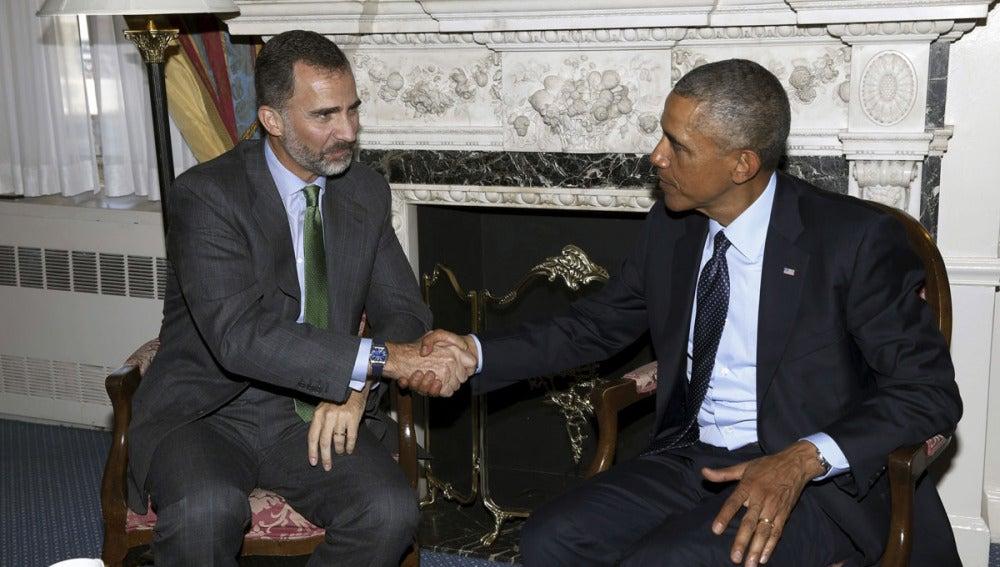 Felipe VI y Obama se saludan en Nueva York