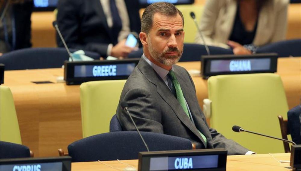 """Felipe VI pide a todos los países """"acelerar el paso"""" ante el cambio climático"""