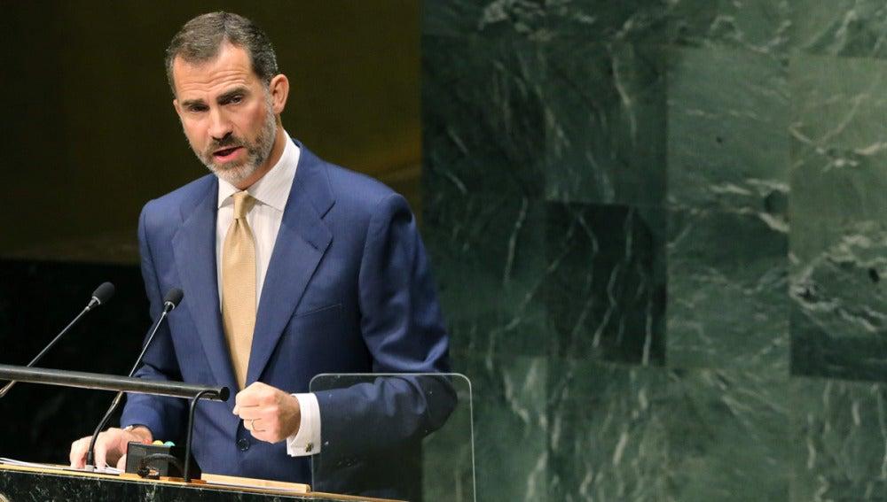 Felipe VI interviene ante la asamblea general de la ONU en Nueva York