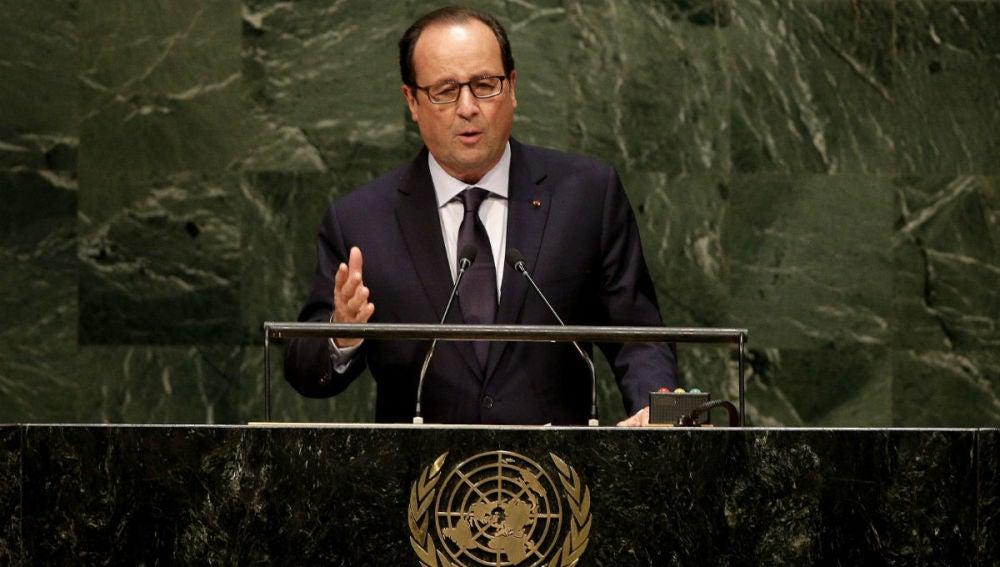 Hollande durante la Asamblea General de las Naciones Unidas celebrada en Nueva York