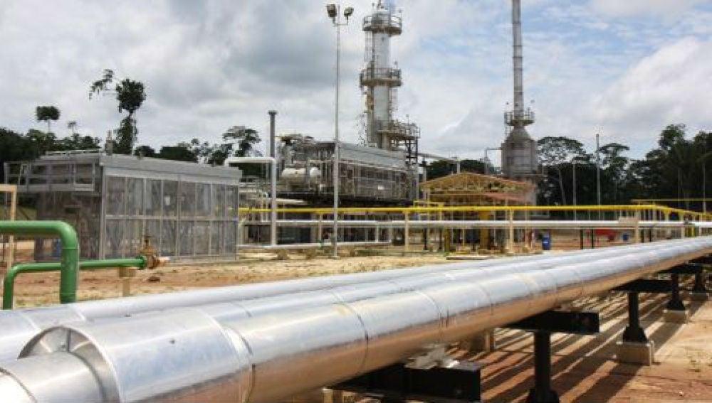 Instalaciones de un gasoducto.