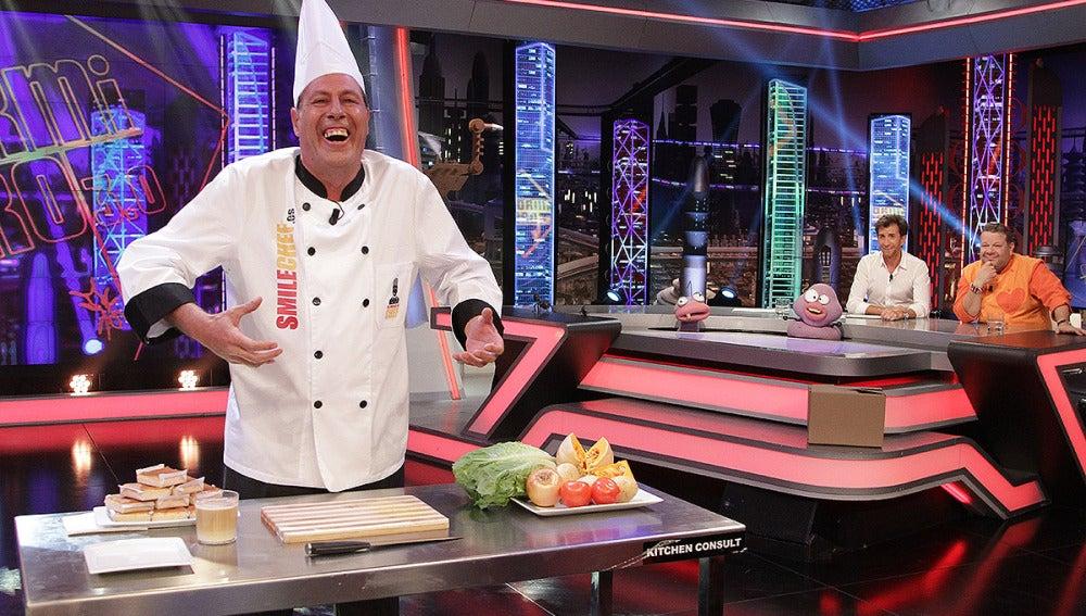 Sinecio, El Smile Chef en El Hormiguero 3.0