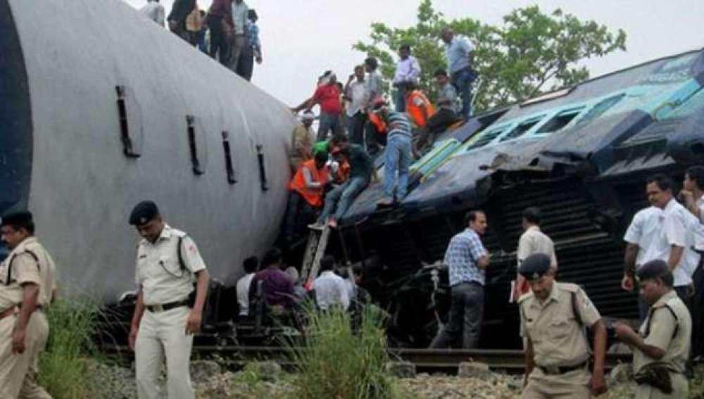 Accidente de tren en India