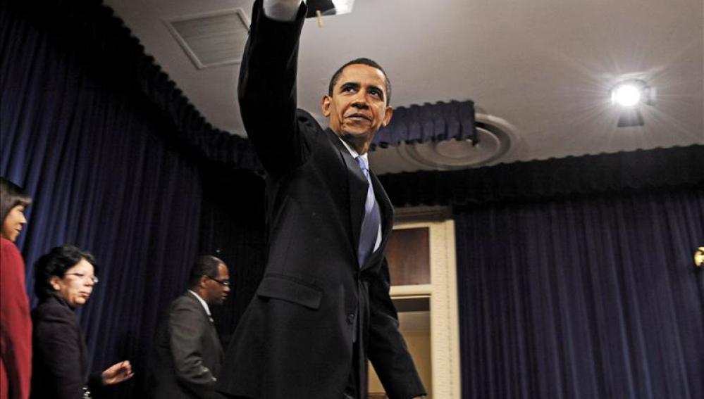 Obama en su visita a Atlanta