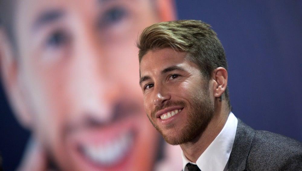 Sergio Ramos, en un acto promocional