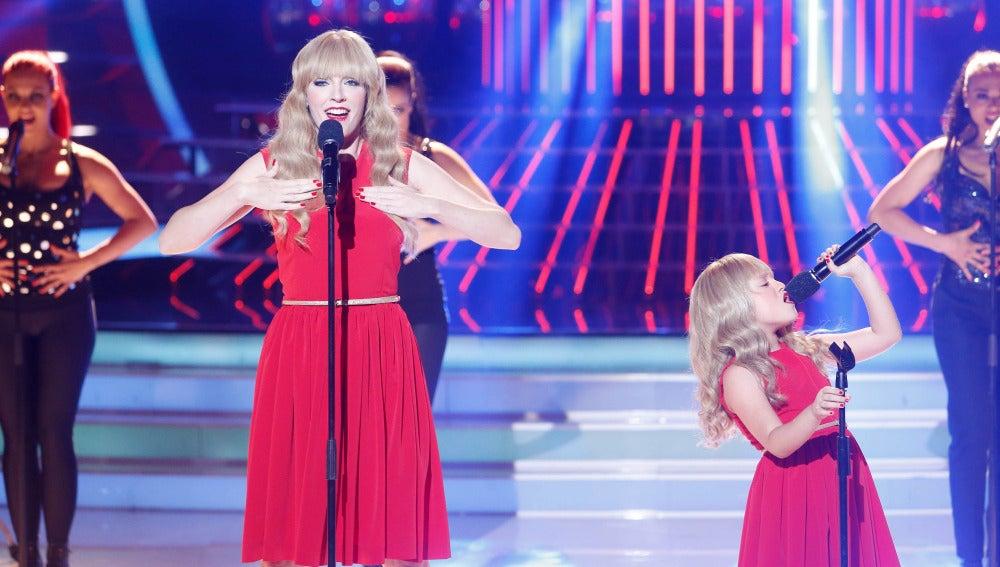 Anna Simon y Nayra imitan a Taylor Swift en Tu cara me suena Mini