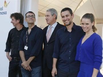 Rodrigo Cortés, junto a Gabino Diego, Ángel Sala, Jordi García Tabernero y Manuela Vellés