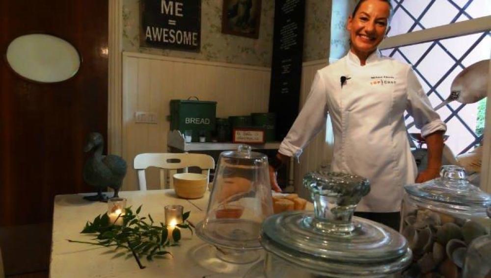 Bárbara Amorós, en la cocina