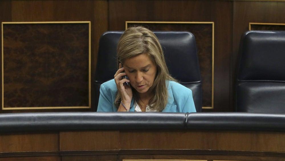 Ana Mato en la sesión de control