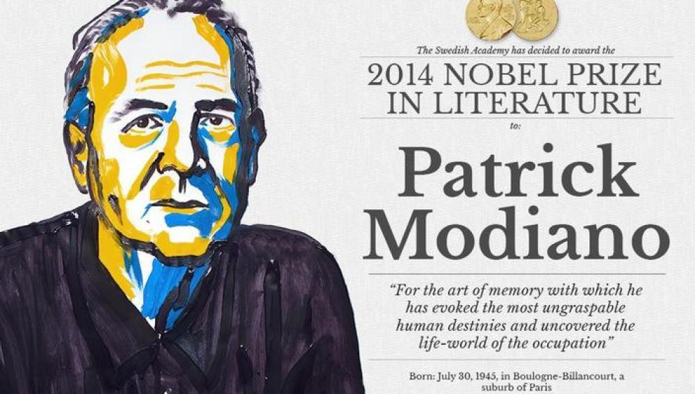 El francés Patrick Modiano, premio Nobel de Literatura 2014