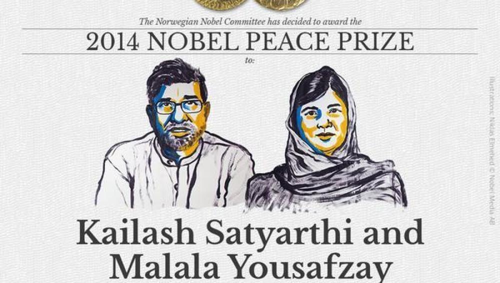 Kailash Satyarthi y Malala Yousafzay, Nobel de la Paz