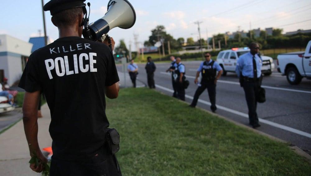 Policías en Saint Louis