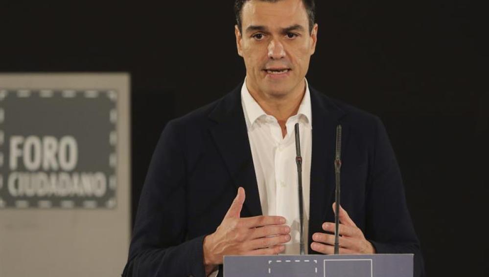 Pedro Sánchez, secretario general de PSOE
