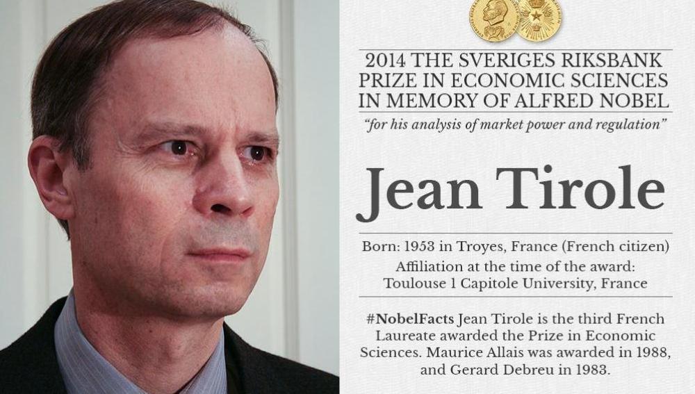 El francés Jean Tirole, galardonado con el Nobel de Economía 2014