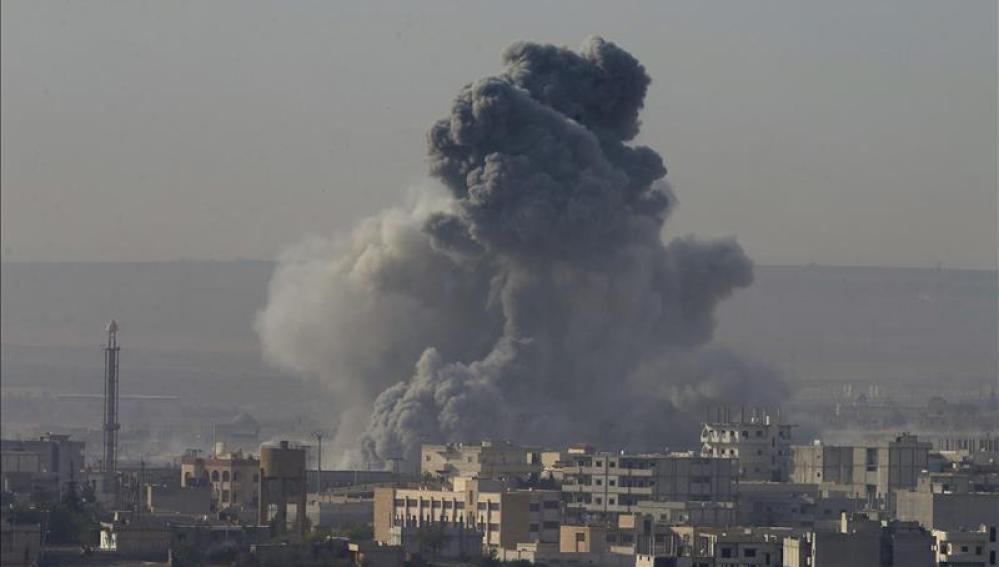 Bombardeos en territorio ocupado