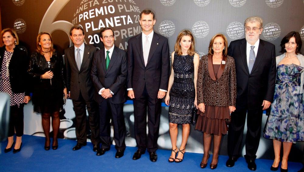 Los Reyes y José Manuel Lara, entre otros, en una edición de los premios
