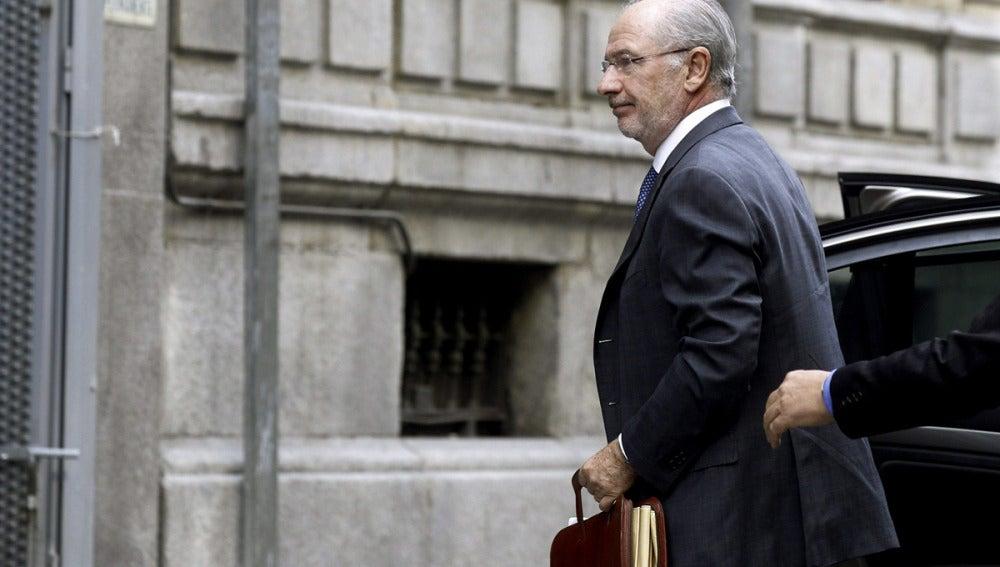 Rodrigo Rato llega a la Audiencia Nacional